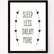 sleep less dream more poster