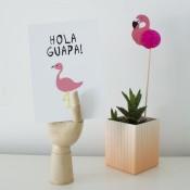 kaart hola guapa flamingo