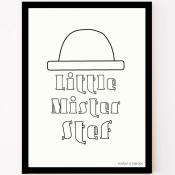 custom made poster little mister met naam