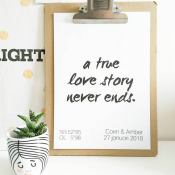 custom made poster a true love sotry never ends