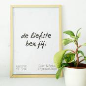 custom made poster de liefste ben jij