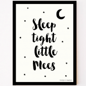 custom made poster sleep tight little one met naam