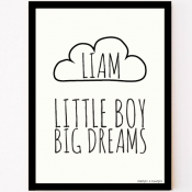 custom made poster little boy big dreams