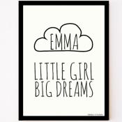 custom made poster little girl big dreams