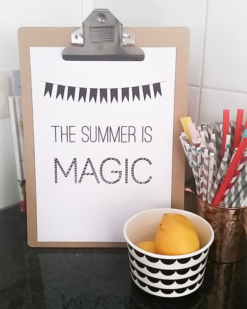 The summer is magic free printable