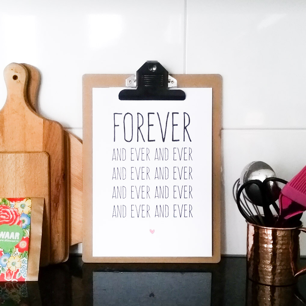 free printable forever and ever