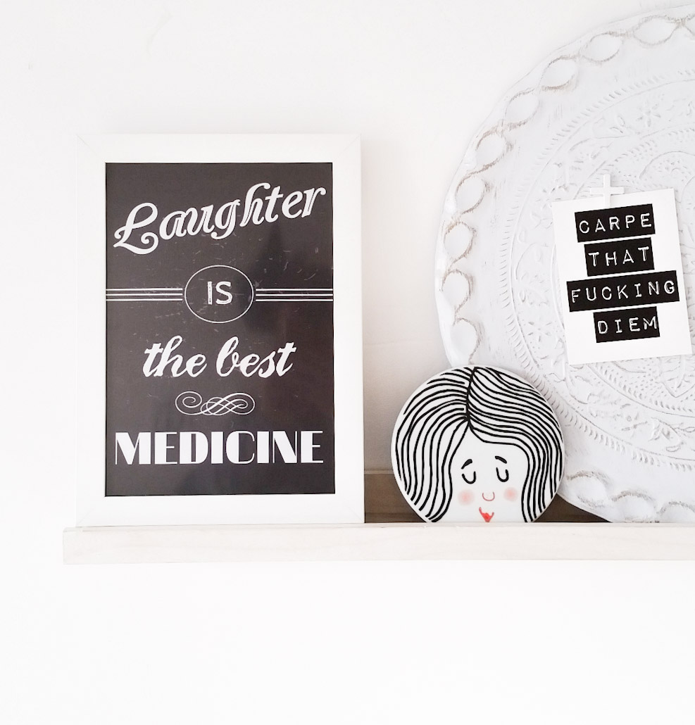 Free printable Laughter is the best medicine